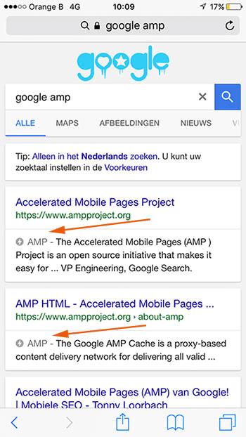 Mobiele AMP