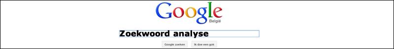 zoekwoord analyse