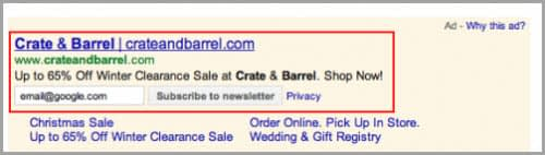 sitelink emailadressen
