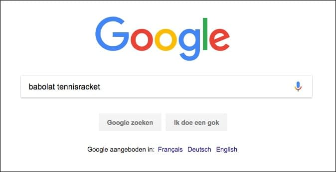 google zoekbar